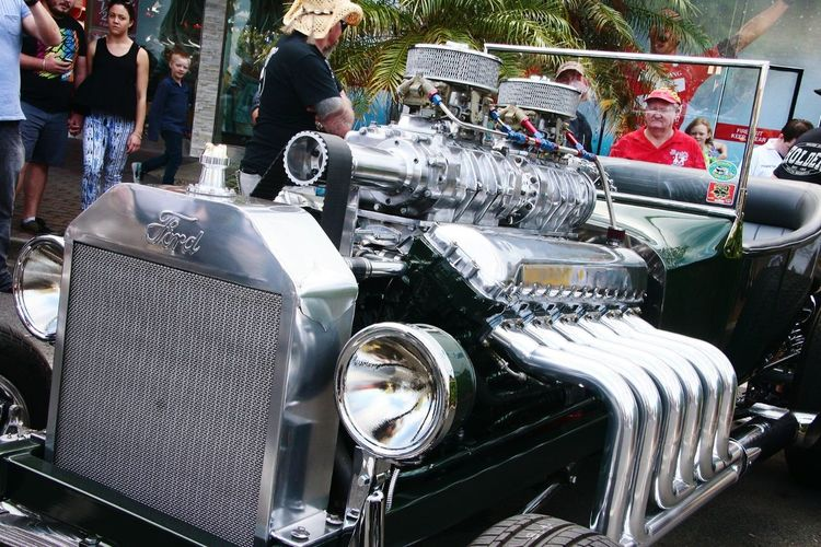 Ford car with a 12 valve Merlin, Spitfire engine inserted.