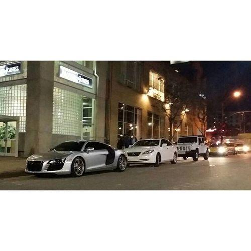 Audi R8 in downtown Raleigh Audi R8 Eastcoastexotics Exotic Foreign Luxury Money Amazingcars247 Carswithoutlimits Carsofinstagram Blacklist Carlifestyle Carinstagram Motörhead Itswhitenoise