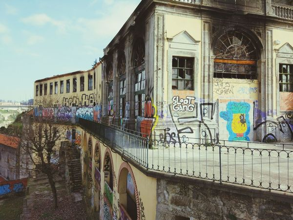 Graffiti Building Exterior Architecture No People Text Sky City Day Graffiti Ghetto Wall Tag Art HipHop Portugal Porto Built Structure Outdoors Ponte Luis I EyeEmNewHere Art Is Everywhere
