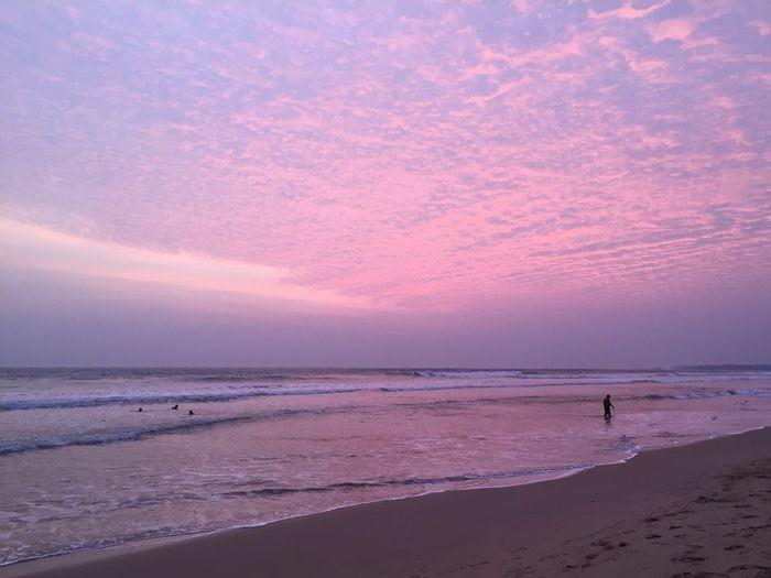 Beach Sunset Sea Beauty In Nature Sky Goodwave Haveagoodone Nofilter Love Sri Lanka Dreambig SriLanka Goodnight EyeEmNewHere
