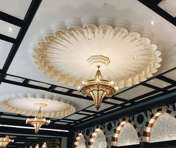 Architecture Built Structure Ceiling Chandelier Decoration Design Electric Lamp Electric Light Electricity  Glowing Hanging Home Interior Illuminated Indoors  Light Light Fixture Lighting Equipment Low Angle View Luxury No People Ornate Pendant Light