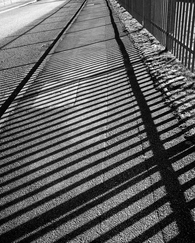 Shadow Sunlight Blackandwhite Black And White Monochrome Full Frame Backgrounds No People