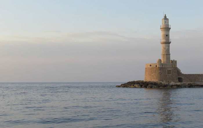 Architecture Building Exterior Built Structure Cloud - Sky Crete Crete Greece Day Greece Guidance Horizon Over Water Lighthouse Nature No People Outdoors Protection Sea Sky Tower Travel Destinations Water