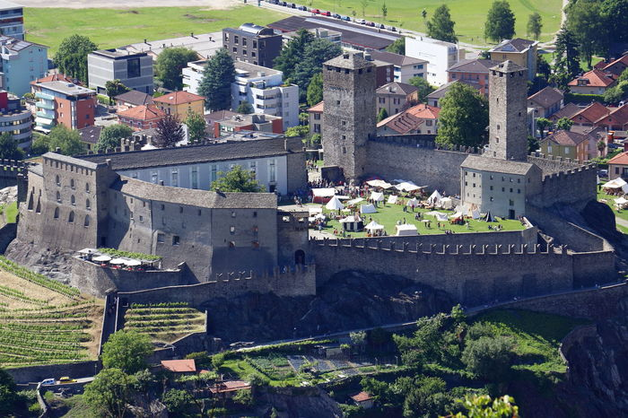 Ancient Castle Rock Wall Alps Architecture Building Built Structure Castelgrande Fortification History Landscape Medieval Old Outdoors Palace Prevent Stone Switzerland Ticino Lost In The Landscape Perspectives On Nature