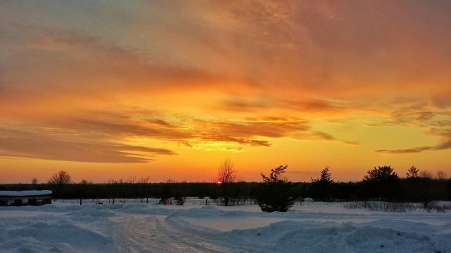 Countryside Sunset Winter Landscape Country Living Ontario Country Life Yarker