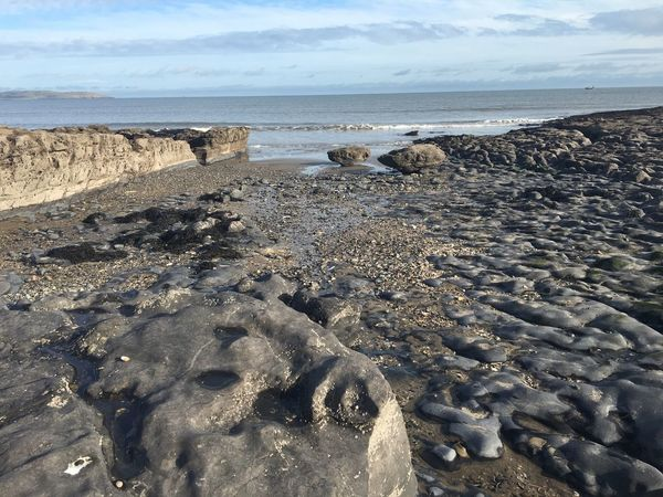Beach Rocks Ireland Malahide  Fingal Geology Natural Pattern Nature Land Meets Sea Sea Island Sea And Sky