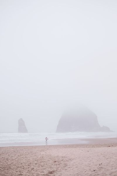 Cold surf IG @noeldxng Sea Water Beauty In Nature Scenics - Nature Sky Land Beach Fog Tranquility Tranquil Scene Nature Standing Day Real People Non-urban Scene Copy Space Idyllic Lifestyles Outdoors Surfing A New Beginning