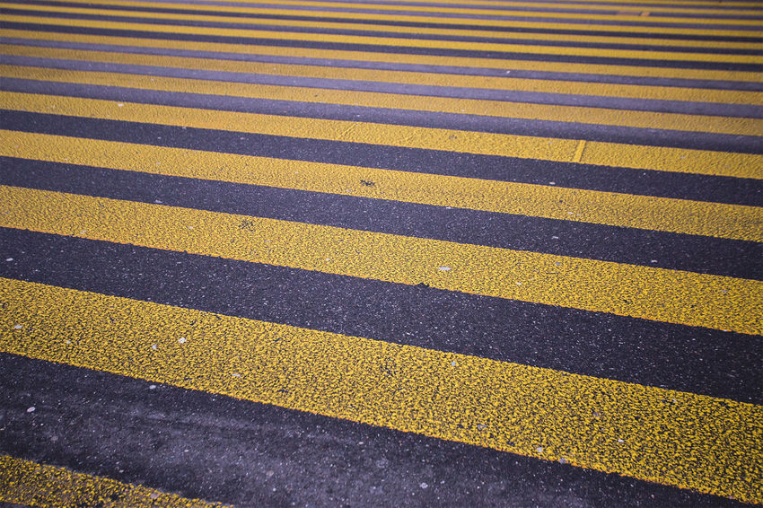 Abstract road markings Asphalt Backgrounds Close-up Day Detail Elevated View Full Frame Multi Colored Nature No People Outdoors Road Road Marking Yellow