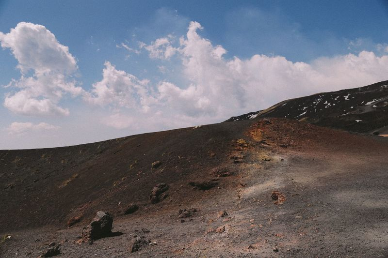 The Great Outdoors - 2017 EyeEm Awards Sky Nature Landscape Tranquility Mountain Geology Tranquil Scene Beauty In Nature No People Outdoors Cloud - Sky Physical Geography Day Mountain Range Sicilia Sicily Ethna Volcanic Landscape Volcano Power In Nature Beauty In Nature Nature