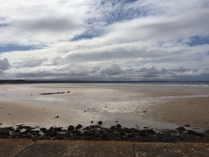 The KIOMI Collection Beach Beachphotography Clouds And Sky Sand Burghead Scotland Seascape IPhoneography