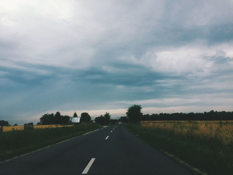 Road The Way Forward Transportation Sky Diminishing Perspective Car Cloud - Sky Landscape Nature No People Scenics Tree Journey Tranquil Scene Tranquility Day Car Point Of View Outdoors Beauty In Nature