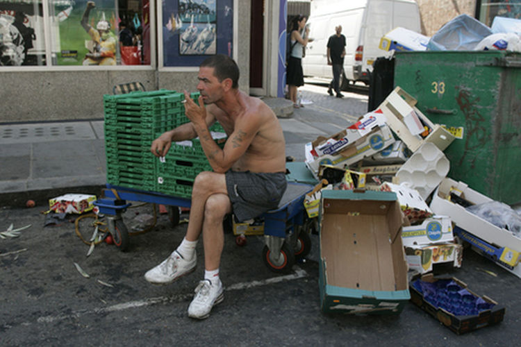 Market Man amongst Rubbish Bicycle Business Casual Clothing Composition Documentary Style Photography Friendship Full Length Land Vehicle Leisure Activity Lifestyles London Portobello Market West London Market Man Having A Break Sitting Amongst Rubbish Men Occupation Perspective Real People Relaxation Reportage Street Photos Taking Fotos Images Photographic Camera Lens Architectural Design Building Structual Support Detail Of Tower Block In Sunshine Blue Sk Side View Sitting Standing Stationary Transportation Young Men