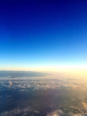 Sky And Clouds From An Airplane Window Hello World InFlightPhoto Travel Photography Blue Sky Flying Away Traveling Onboard