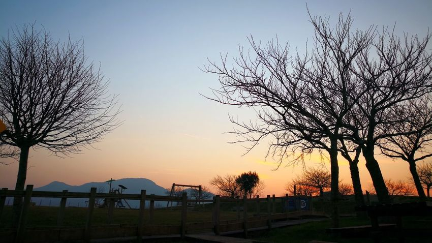 #atardecer Sunset Silhouette Sky Tree Landscape Beauty In Nature Nature Mountain Outdoors No People