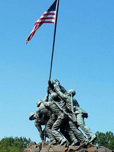 Iwo Jima Sightseeing Tourists Washington, D. C. USMC