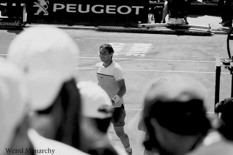 "ask to remove the tag ""Weird Monarchy""(WM) Black And White Legend Monaco Monte Carlo Rafael Nadal  Rolex Monterey Motorsports Reunion Smiling SPAIN Sports Photography Tennis Tenniscourt Tournament Vamos Rafa"