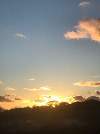 Fire Sunset Sky Nature Silhouette Beauty In Nature Cloud - Sky Scenics