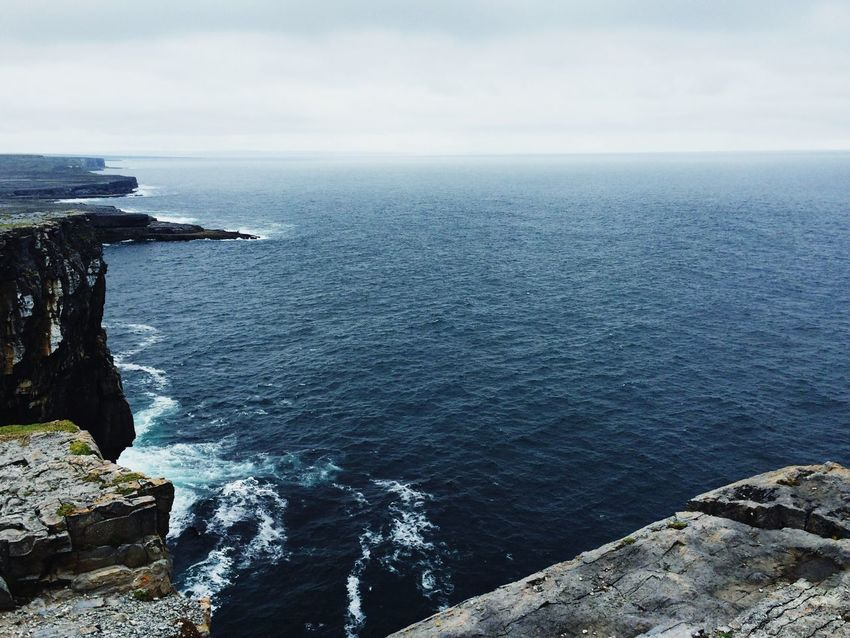 Cliffs Atlantic Ocean Blue Cold Waves Crashing At The Edge Of The World Ireland