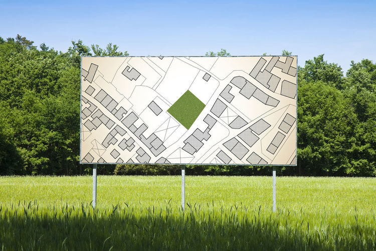 Cadastral Cadastral Map Cadastre Nature Billboard Plant Field Grass Green Color Tree Sky Land Day No People Outdoors Sunlight Architecture Built Structure Growth Sport Environment Absence Landscape Building Exterior Blank