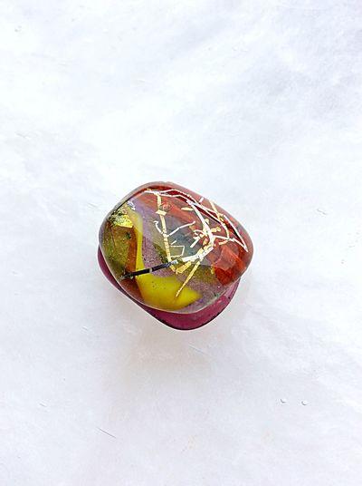 Traditional Craft Handmade Jewellery Gold Leaf Craft Handmade Crafts Glass Sash Clip Japan Jewelry Glass Art