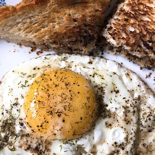 Egg & Toast Breakfast Food And Drink Food Indoors  Close-up Freshness No People Healthy Eating Egg Table Still Life Indulgence