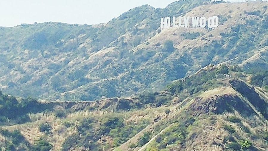 Hollywood Sign Mountain Los Angeles, California Outdoors Cliff No People Day Nature Sky