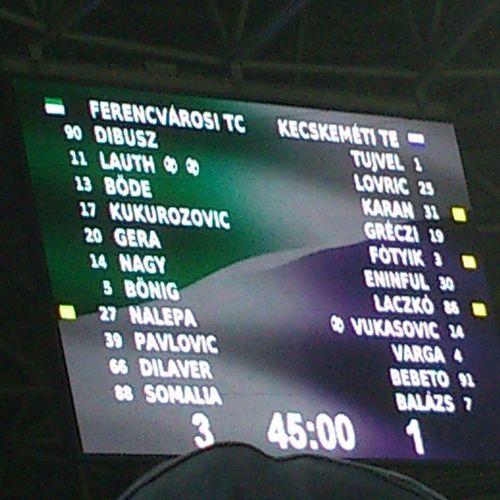 A győzelem a Ferencvárosé! Ferencváros Fradi FTC  Hajrafradi Zöldfehér