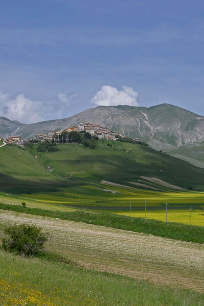 Beauty In Nature Castelluccio Castelluccio, Norcia Cloud - Sky Colorful Colors Field Flowers Idyllic Italia Italy Landscape Nature No People Outdoors Sky Spring Flowers Tranquil Scene Tranquility Umbria Umbria, Italy Travel Photography Italy❤️ Traveling