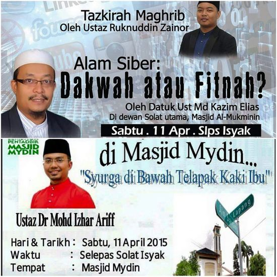 Another 2 power pack event on 11 April.. Masha'Allah tabarakallah.. Al-Mukminin Mosque and Mydin Mosque Gojer Mustgo Letsgo Veryveryvery Power11apr
