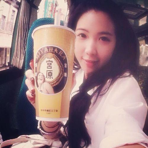 Yammy yammmmmy~珍珠奶茶之必要。 宮原眼科 宮原珍奶 Taichung Taiwan trip holiday