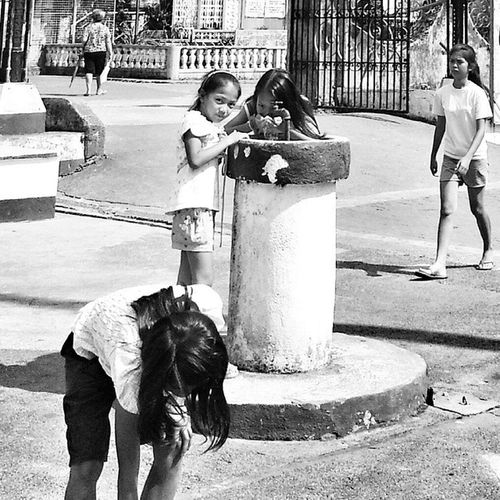 To quench the thirst after playing under the hot sun. Springwater  Lucban Drinkingfountain Wanderkat Happykids