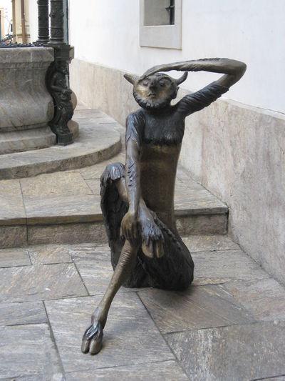 Devil Outdoors Statue Street Art