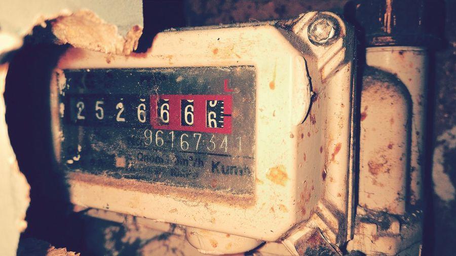 Gas Meter Oldschool Soviet Times Rustic Meter Vintage
