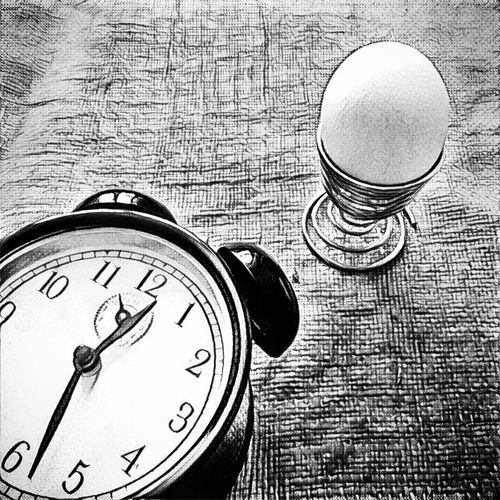 Alarm Clock, Time, Canvas, Table Circle Close-up Day Egg Geometric Shape No People Still Life Time