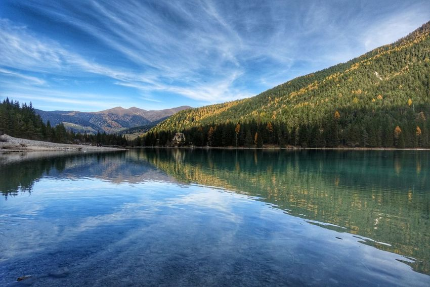 Perspectives On Nature Lake Pinaceae Reflection Water Landscape Sky Forest Scenics Cloud - Sky Tree Outdoors Pine Tree Mountain Nature Tranquility Beauty In Nature No People Blue Day Alto Adige Südtirol Shades Of Winter
