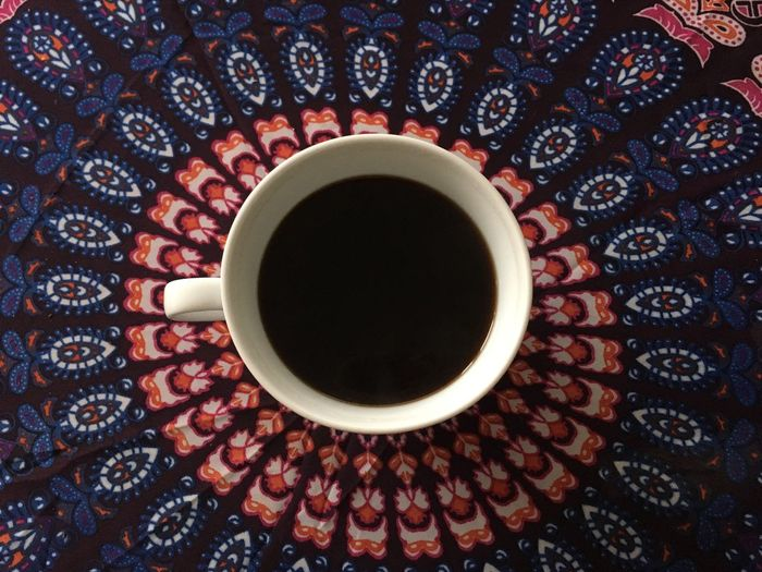 Circle Close-up Coffee - Drink Cup Directly Above Elevated View Geometric Shape No People Overhead View Refreshment Still Life