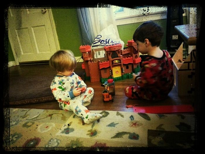 Playing With Their Castle