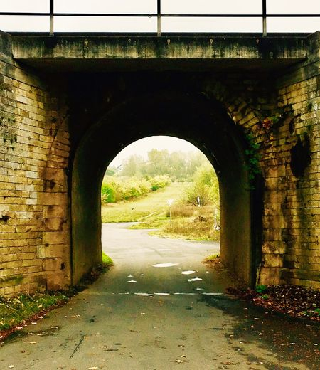 Arch Architecture Built Structure Brick Wall Archway Tunnel No People Day Arched Outdoors Tree Nature