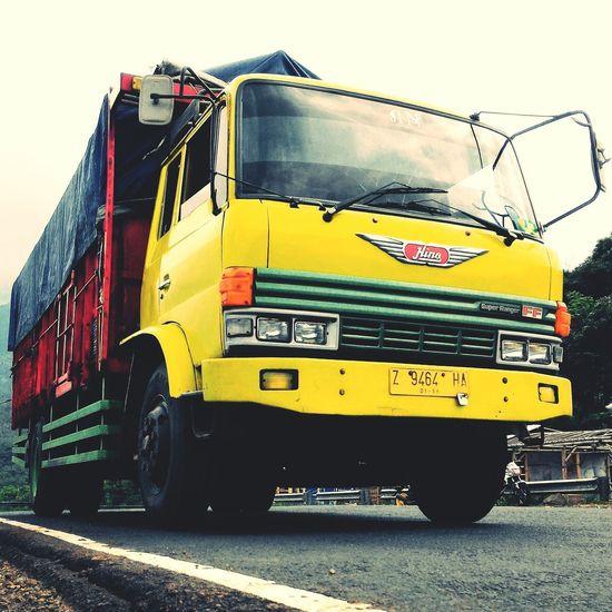 H I N O T R U C K Mode Of Transport Public Transportation Transportation Yellow First Eyeem Photo