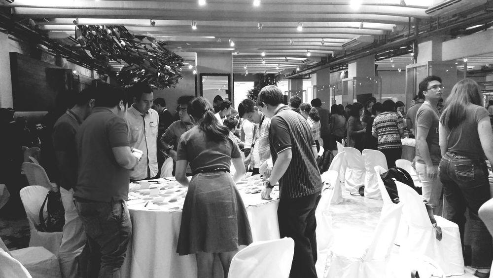 Participation is a must Workshops Teamwork Collaboration Blackandwhite