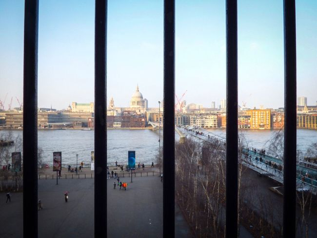 Water Architecture Built Structure Sea City Building Exterior Day Sky Nature Outdoors No People TateModern Londonlife London Lifestyle London Railings Metal Parallel StPaul Cityscape Point Of View Viewpoint Places Of Worship Places Of Interest Photography