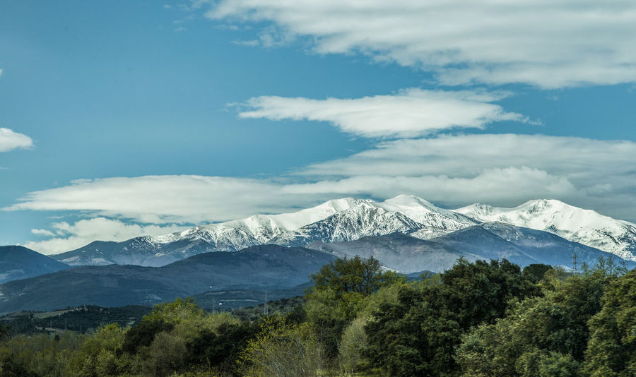 Canigou Mountain Cloud And Sky Landscape_photography Landscapes With WhiteWall Snow Capped Mountains