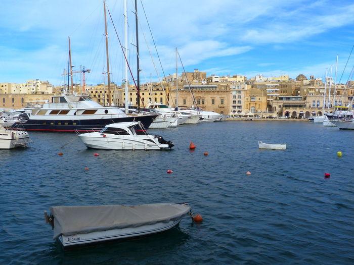 Senglea Malta Senglea Marina Mediterranean  Mediterranean Sea Nautical Vessel Mode Of Transportation Transportation Water Architecture Building Exterior Sailboat Sky Sea Built Structure Waterfront No People Outdoors