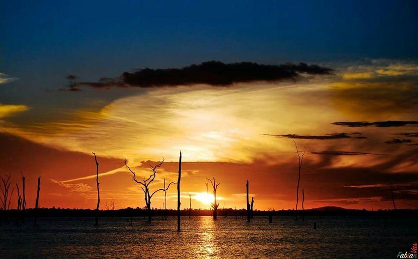 Sunset Stuwmeer TropicAl Suriname South America