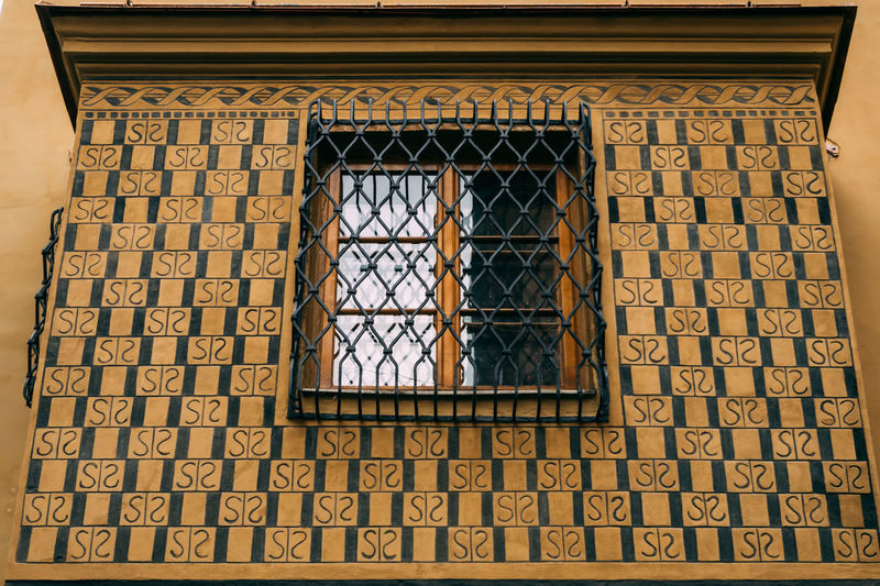 Ancient Architecture Building Building Exterior Built Structure Close-up Day Frame Gril Low Angle View No People Outdoors Pattern Window