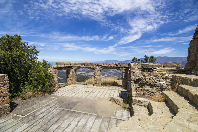 Knapp's Castle ruins California Knapp's Castle Arch Architecture Beauty In Nature Bridge - Man Made Structure Built Structure Cloud - Sky Connection Day History Nature No People Outdoors Santa Ynez Valley Scenics Sky Sunlight Travel Destinations Tree Water