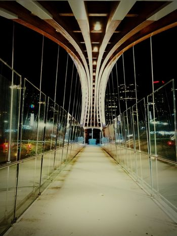 Architecture Built Structure Bridge - Man Made Structure No People The Way Forward City Travel Destinations Architectural Column Night Illuminated Indoors  Burnabybc Burnaby Metrotown Kingsway Pedestrian Bridge Aboveground HUAWEI Photo Award: After Dark