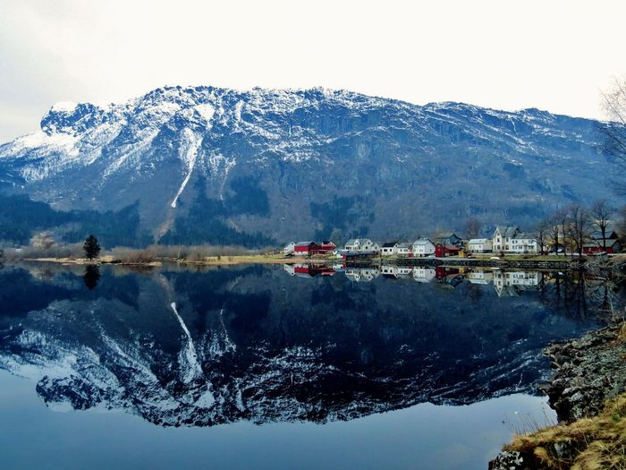 Architecture Beauty In Nature Beauty In Nature Cold Temperature Day Frozen Granvinsvat Hardanger Lake Lake View Mountain Mountain Range Nature Outdoors Reflection Reflection Reflections In The Water Scenics Snowcapped Mountain Tranquil Scene Tranquility VOSS Weather Western Norway Winter