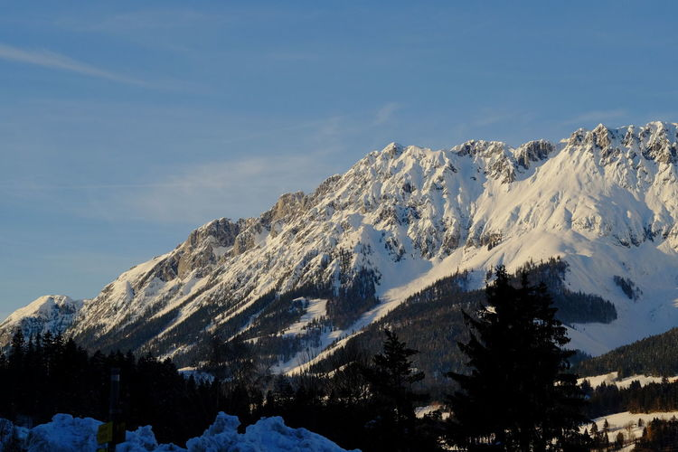 Winter Cold Temperature Snow Mountain Scenics - Nature Beauty In Nature Tranquil Scene Sky Snowcapped Mountain Tranquility Environment Mountain Range Nature No People Non-urban Scene Landscape Tree Mountain Peak Outdoors Formation Wilder Kaiser Tyrol