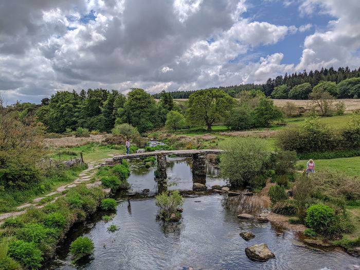 Post Bridge on Dartmoor Cloud - Sky Sky Medieval Architecture Dartmoor Dartmoor National Park Stream Clouds Rural Scene Countryside Design Water Scenics - Nature Beauty In Nature Tranquility No People River Land Flowing Water